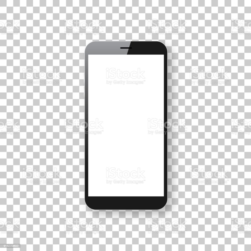 Smartphone isolated on blank background - Mobile Phone Template vector art illustration