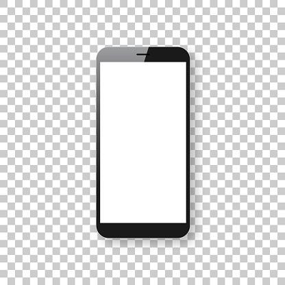 Ilustración de Aislado Sobre Fondo Blanco Plantilla Teléfono Móvil Smartphone y más Vectores Libres de Derechos de Blanco - Color