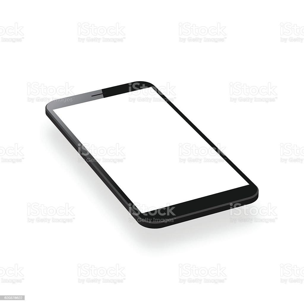 Smartphone isolated on White Background - Mobile Phone Template smartphone isolated on white background mobile phone template - stockowe grafiki wektorowe i więcej obrazów bez ludzi royalty-free