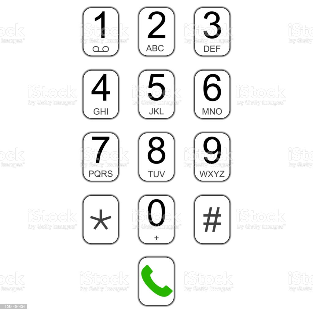 Smartphone Keypad Dialer With Buttons Vector User Interface