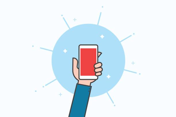 smartphone-linie-icon-design. - selfie stock-grafiken, -clipart, -cartoons und -symbole