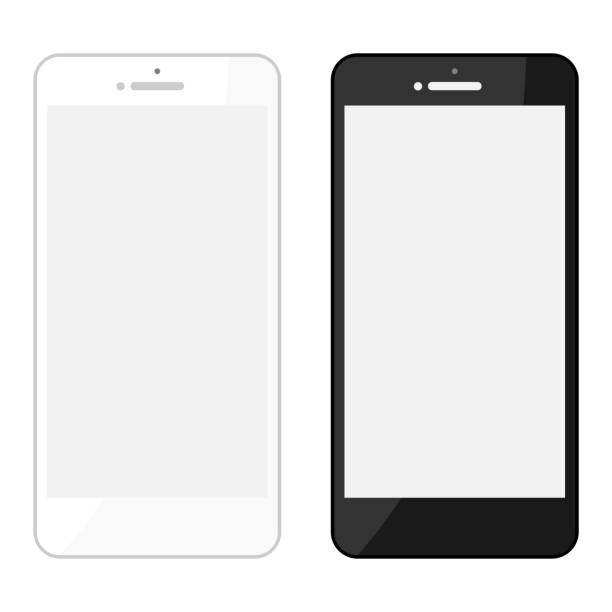 スマートフォン携帯電話イラストセット ベクターアートイラスト