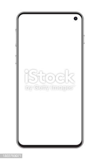 istock Smartphone, Mobile Phone In Black Color, Realistic Vector Illustration 1322753071