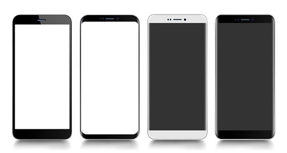 Smartphone. Mobile phone. Telephone. Realistic vector  illustration
