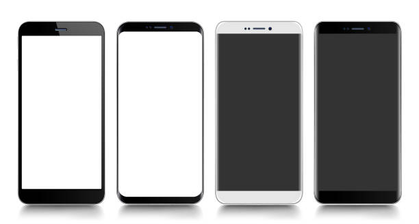 smartphone. mobile phone. telephone. realistic vector  illustration - smartphone stock illustrations