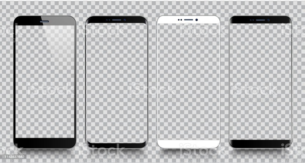 Smartphone. Mobile phone Template. Telephone. Realistic vector illustration of Digital devices - Royalty-free Agenda Eletrónica arte vetorial