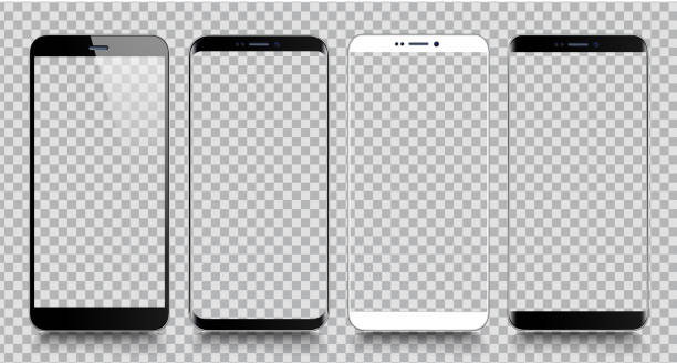 smartphone. mobile phone template. telephone. realistic vector illustration of digital devices - smartphone stock illustrations