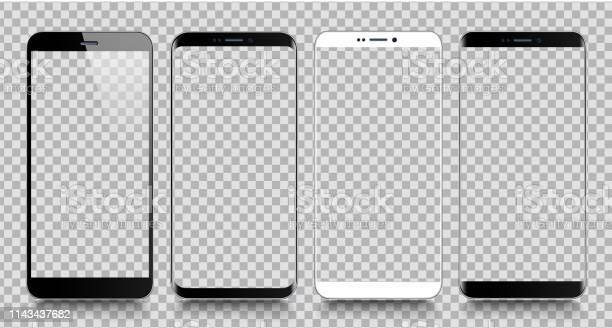 스마트폰 휴대 전화 템플릿입니다 전화 디지털 장치의 현실적인 벡터 일러스트 레이 션 0명에 대한 스톡 벡터 아트 및 기타 이미지