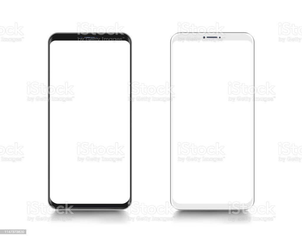 smartphone mobile phone template telephone realistic vector illustration of digital devices