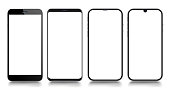 Smartphone. Mobile phone Template. Telephone. Realistic vector illustration of Digital devices