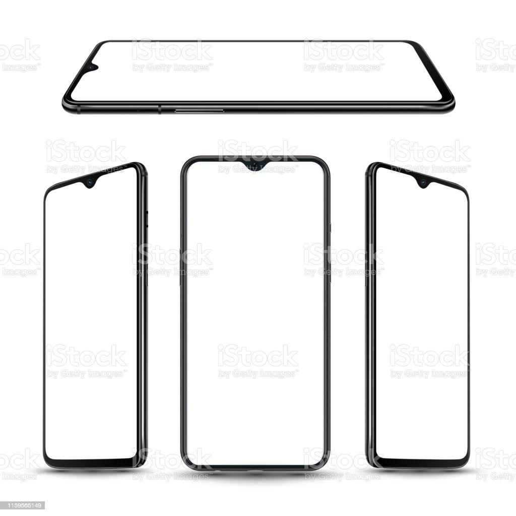 Smartphone Mockup For Technology Stock Illustration   Download ...