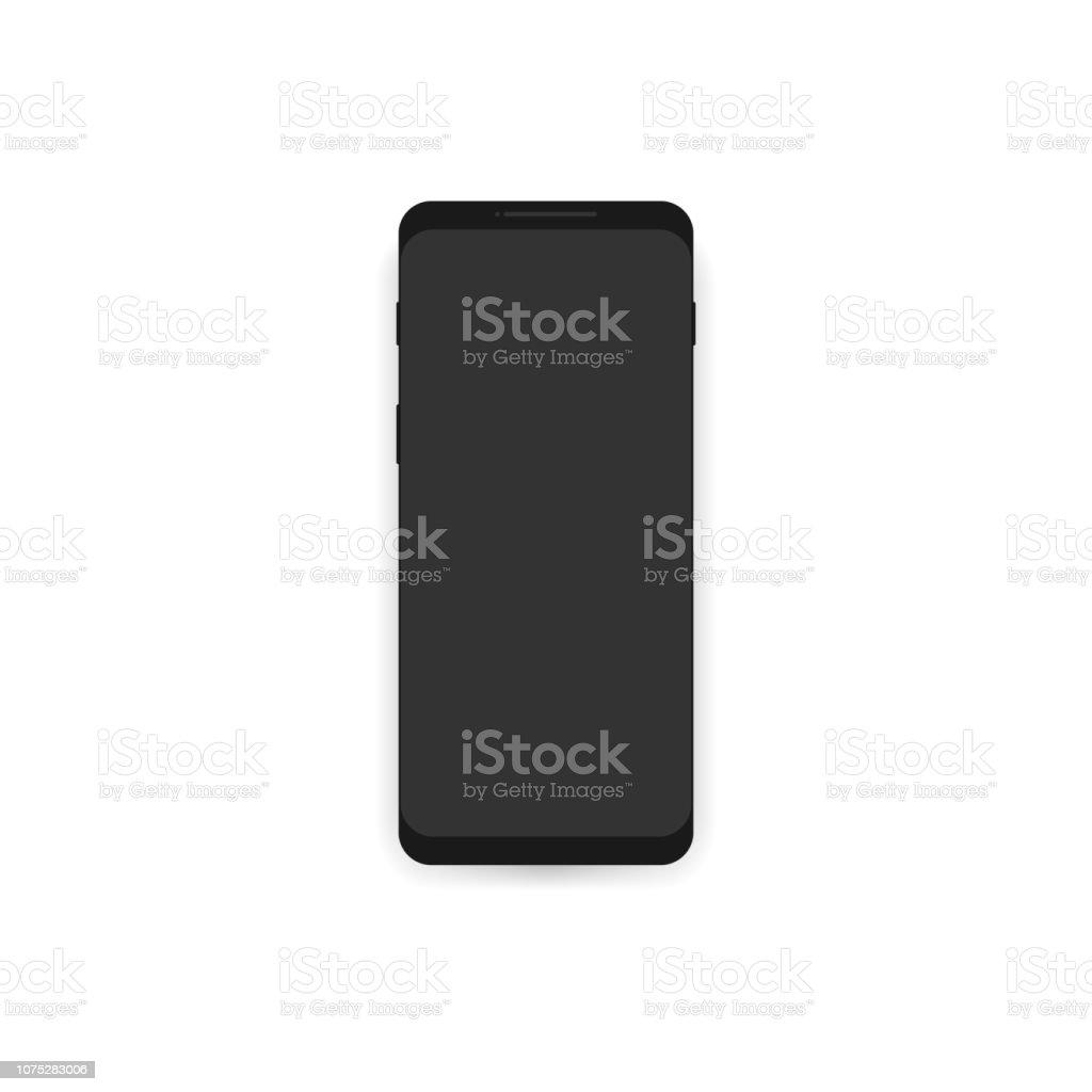 Smartphone mockup with blank screen. vector art illustration