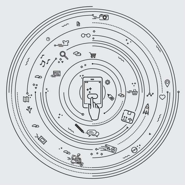 Réseautage de smartphone - Illustration vectorielle
