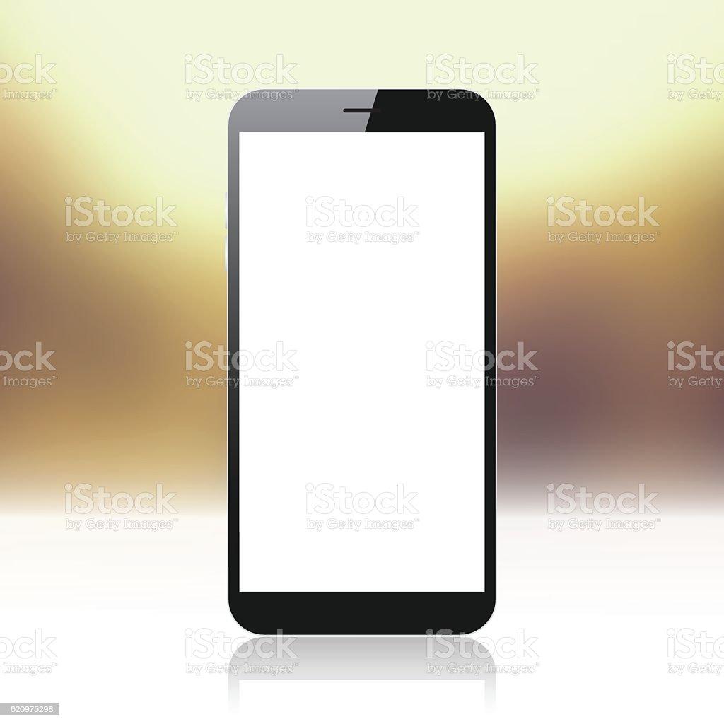 Smartphone Auf Goldenem Und Glanzendem Hintergrund Handyvorlage Stock Vektor Art Und Mehr Bilder Von Abstrakt Istock