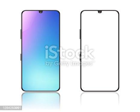 istock Smartphone on white background 1254253991