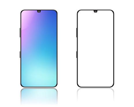 Smartphone on white background