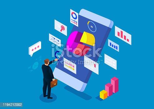 655652514 istock photo Smartphone online analysis and statistics 1194212002