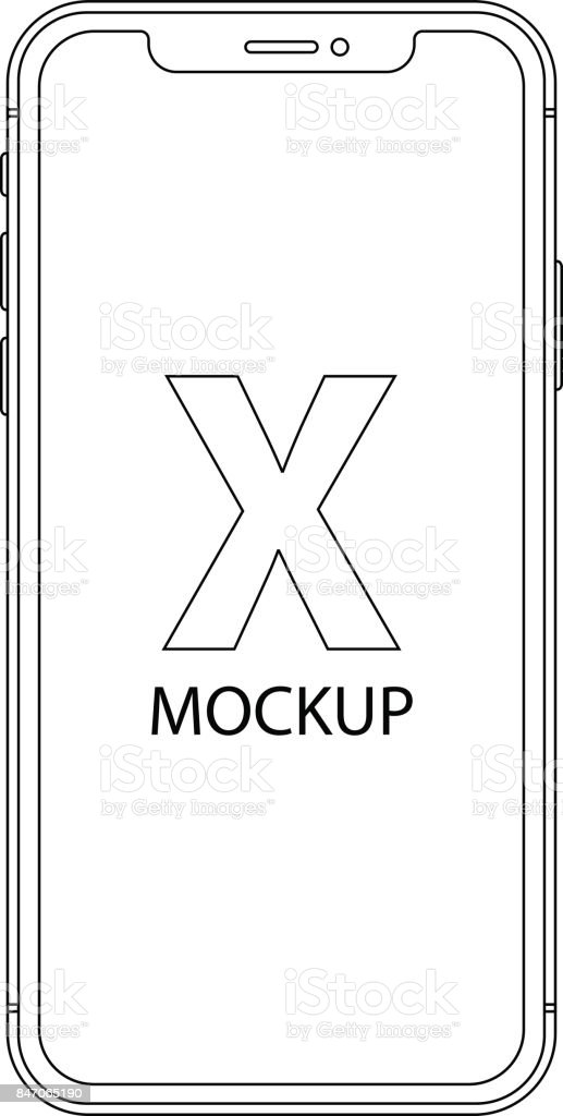 smartphone outline icon in phone style on the white background. stock vector illustration eps10 vector art illustration