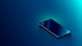 istock smartphone perspective view. Realistic vector illustration isometric phone. 1069071080