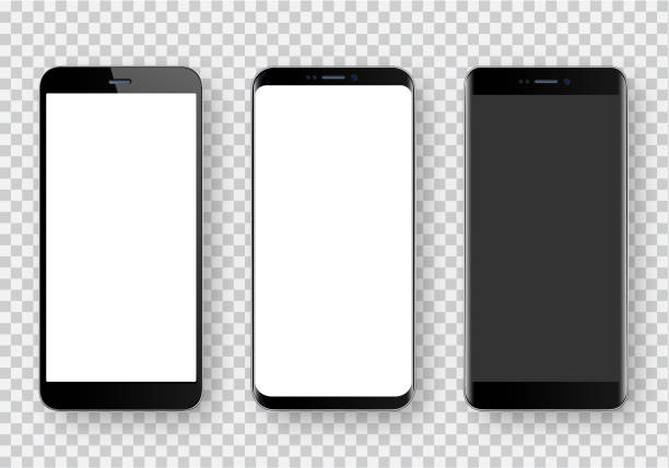smartphone, realistic vector  illustration - smartphone stock illustrations