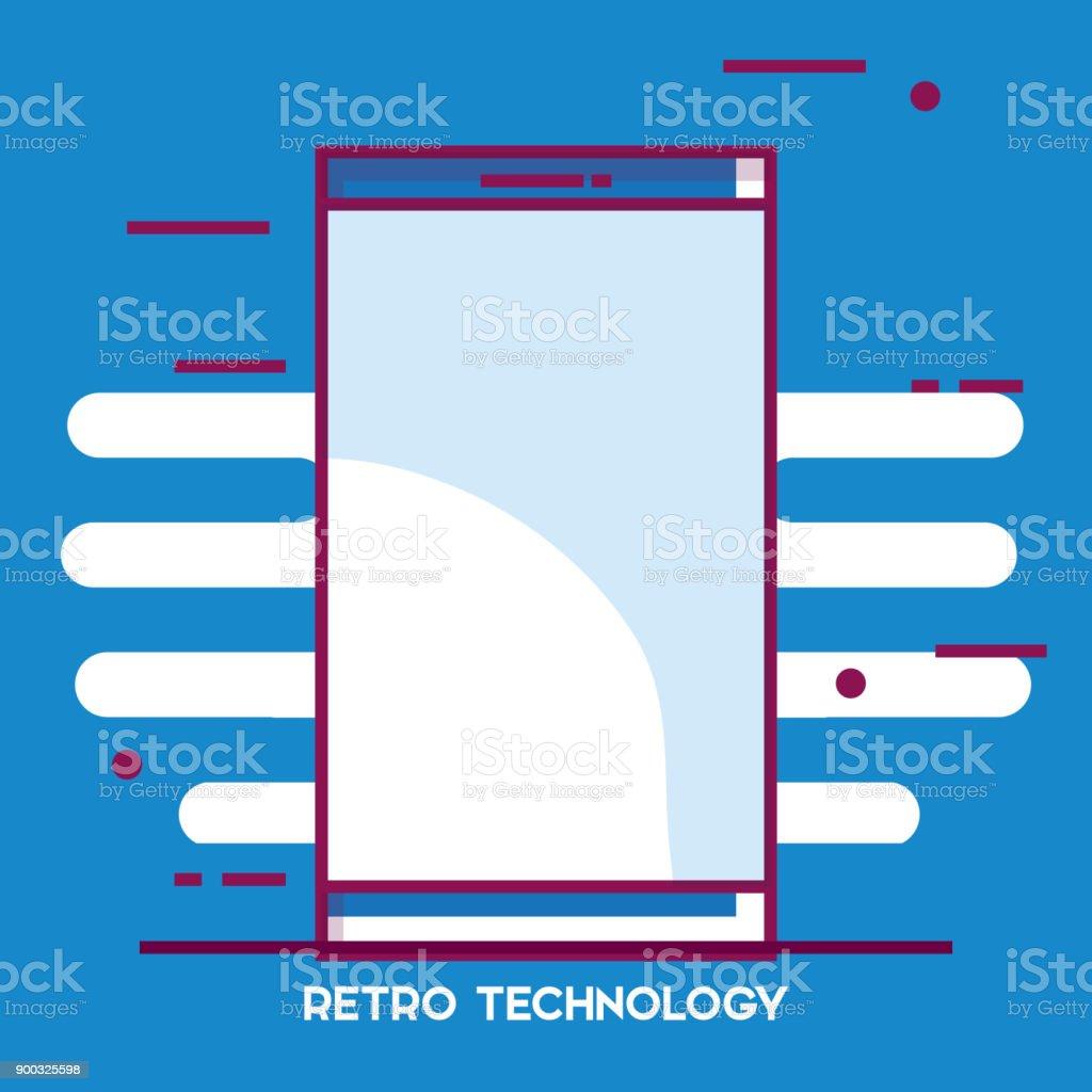 Smartphone-Retro-Technologie-Symbol – Vektorgrafik