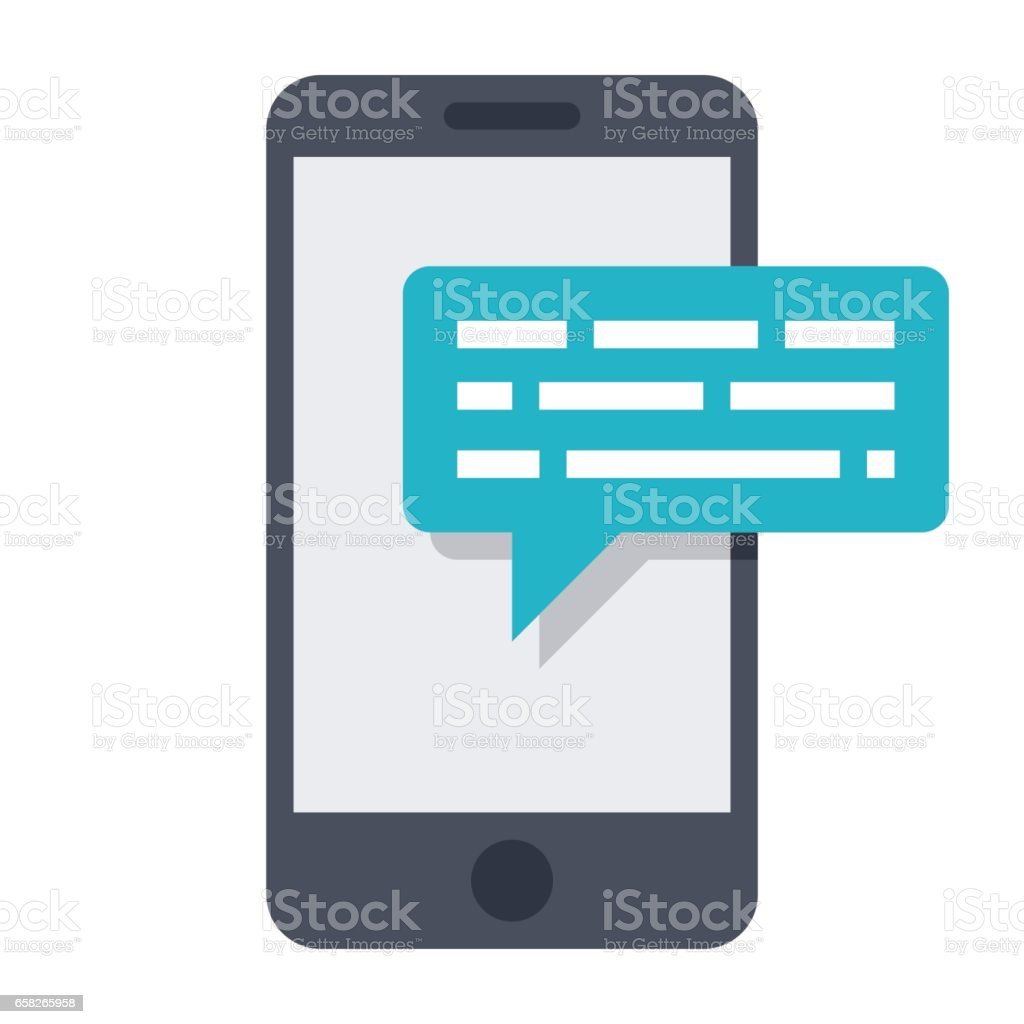 Smartphone Sms Icon vector art illustration