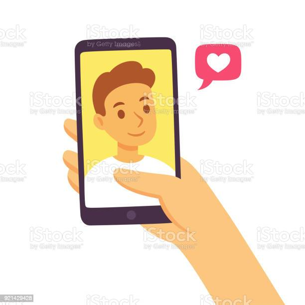 Smartphone Social Communication Concept Stock Illustration - Download Image Now