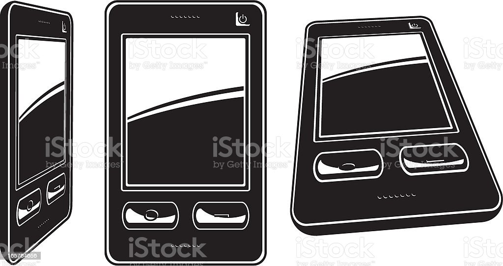 Smartphone vector art illustration