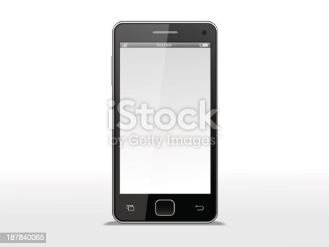 Vector illustration of smartphone. File is in eps10 format and contains some transparencies.