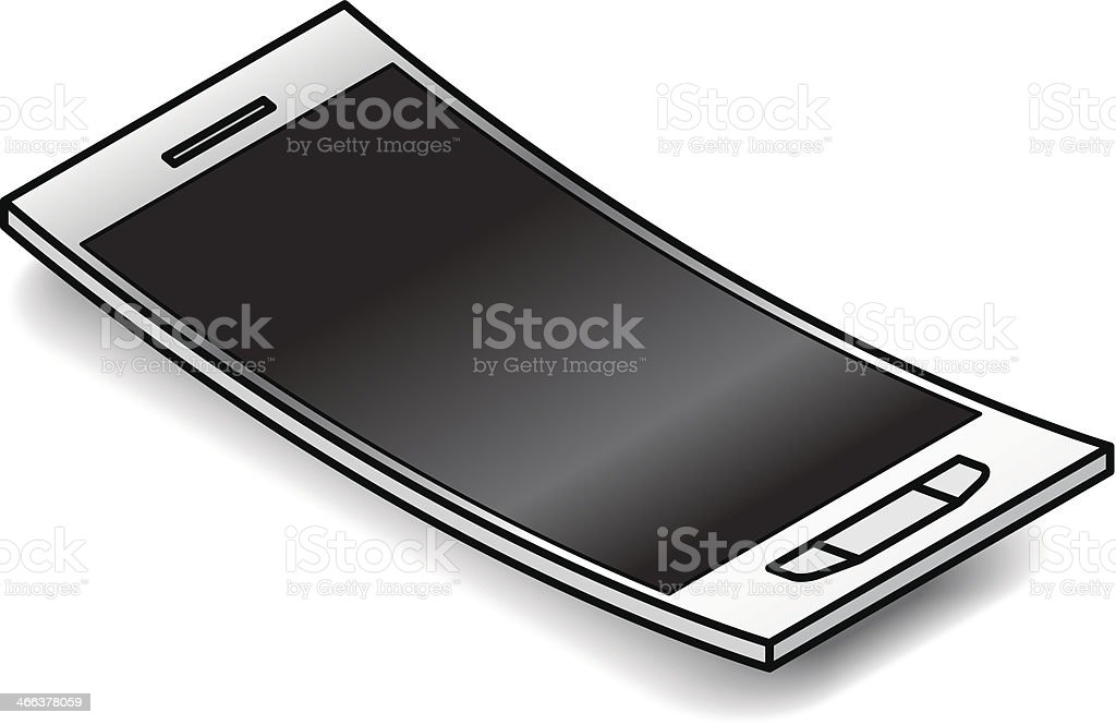 Smartphone royalty-free smartphone stock vector art & more images of bent