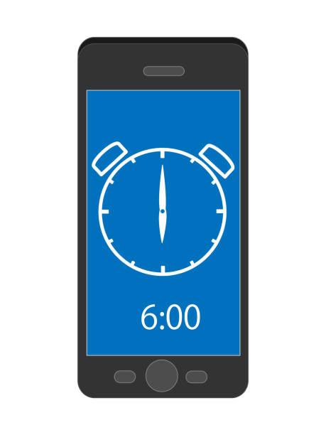 smartphone watch – artystyczna grafika wektorowa