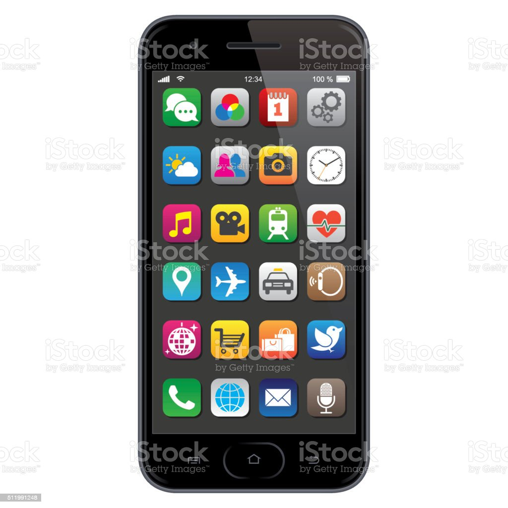 royalty free smart phone clip art vector images illustrations rh istockphoto com clip art phone conversations clipart phone calls