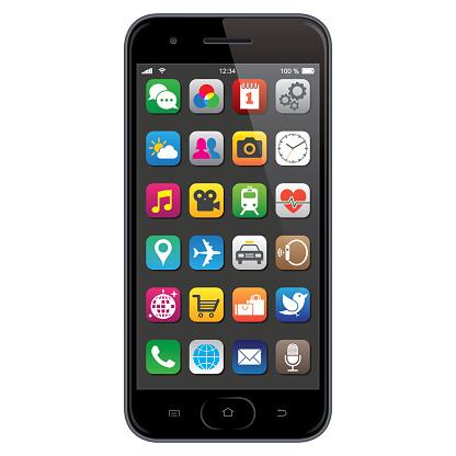 スマートフォンのアプリのアイコン - 3Dのベクターアート素材や画像を多数ご用意
