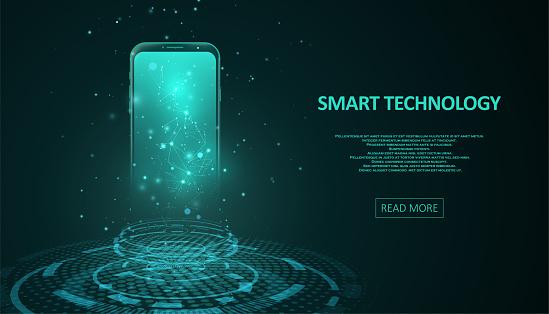 Smartphone with digital screen hologram