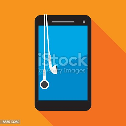 istock Smartphone with Earbuds 833913080