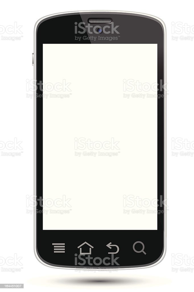 smartphone with isolated screen royalty-free smartphone with isolated screen stock vector art & more images of communication
