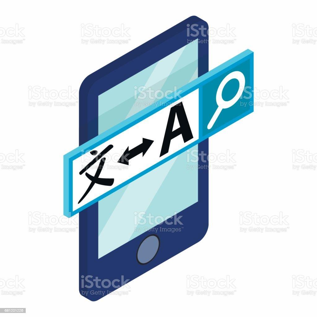 Smartphone mit Übersetzer auf der Bildschirm-Symbol – Vektorgrafik
