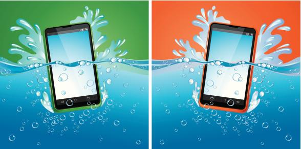Smartphones in water