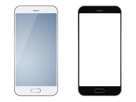 Ilustración de Smartphones Aislados Sobre Fondo Blanco y más Vectores Libres de Derechos de Blanco - Color