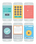 Smartphones with various user interface elements
