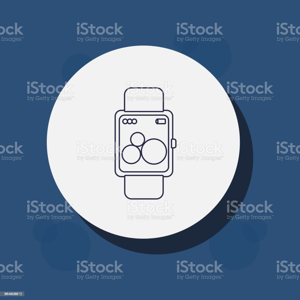 smartwatch device icon royalty-free smartwatch device icon stock vector art & more images of clock