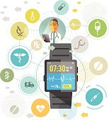 Smartwatch for healthcare.