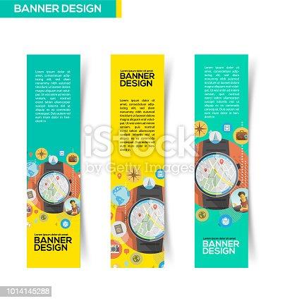 Smartwatch for traveler Banner design