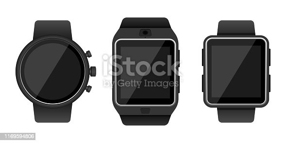 Beautiful vector design illustration of smartwatch isolated on white background
