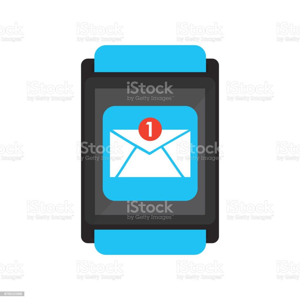 smartwatch wearable technology icon smartwatch wearable technology icon – cliparts vectoriels et plus d'images de affichage digital libre de droits