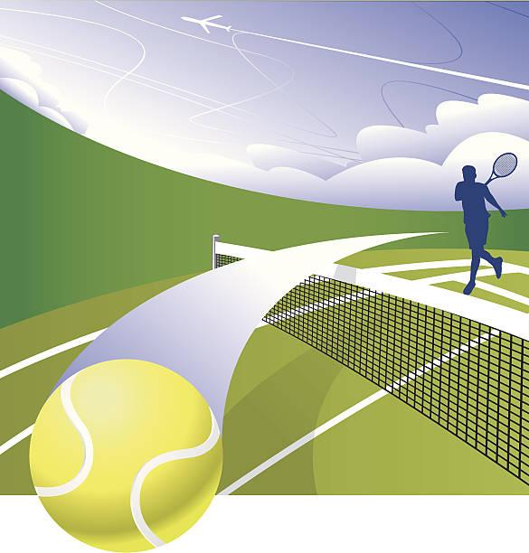 スマッシュのコート - テニス点のイラスト素材/クリップアート素材/マンガ素材/アイコン素材