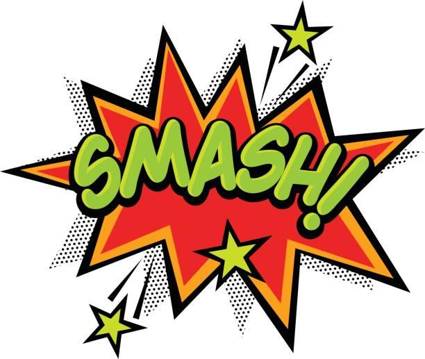 Smash Smash Effect Comics Book. bangs stock illustrations