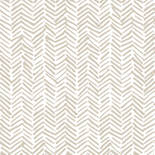 stockillustraties, clipart, cartoons en iconen met smeared herringbone seamless pattern design - beige