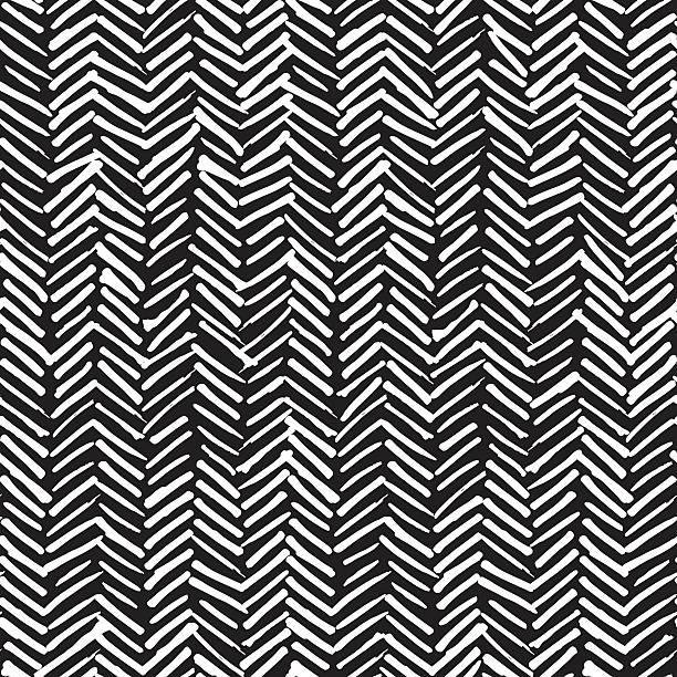 smeared herringbone seamless pattern design - tribal pattern stock illustrations, clip art, cartoons, & icons