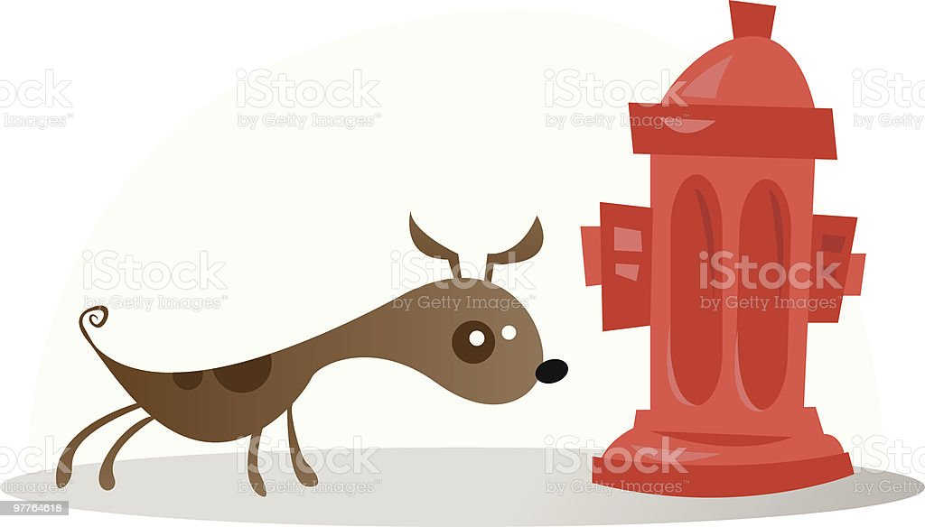 smelling dog royalty-free stock vector art